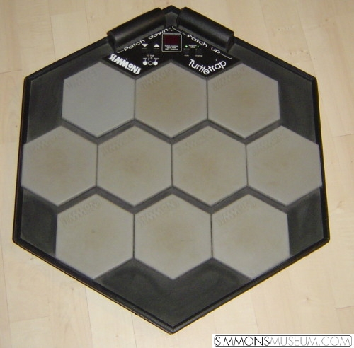 simmons drum pad. the turtle trap is one of last simmons products ever produced in series, built 1994. it a multi pad midi controller comprising 10 trigger drum